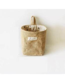 LINEN BAG BASKET | STARS