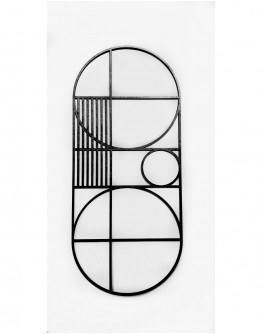 """METRIC"" OVAL ART PIECE 