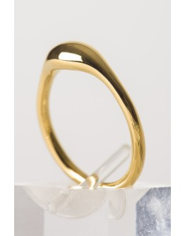 SPHERE SEED SILVER RING GOLD PLATED