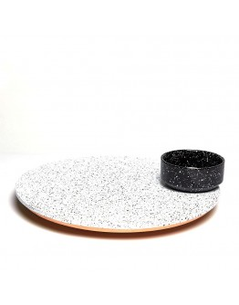 ECLIPSE ROTATING PLATTER - BLACK AND WHITE