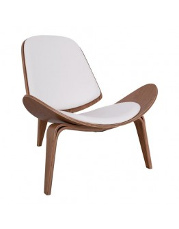 ARMCHAIR IN NATURAL COLOR WITH VEGAN LEATHER PILLOW