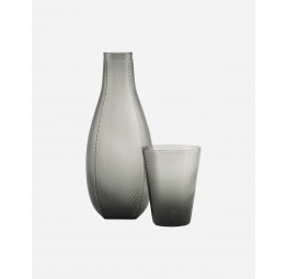 """MILO"" CARAFE WITH GLASS SMOKED GREY"