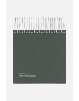 NOTEPAD, DARK GREEN