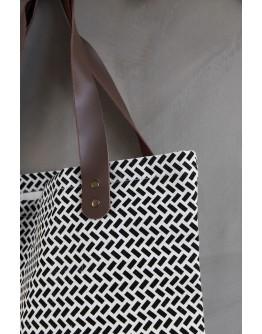 PARAN SHOPPING BAG - BLACK & WHITE