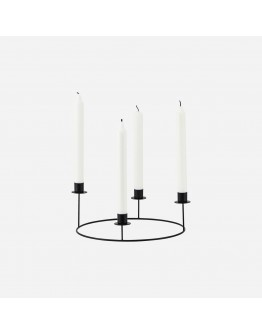 CANDLE STAND RING BLACK SMALL