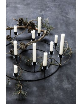 CANDLE STAND RING BLACK