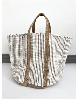 RIZES HANDMADE BAG & BASKET   WHITE