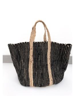RIZES HANDMADE BAG & BASKET   BLACK