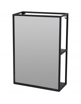 METAL MIRROR WITH SHELVES