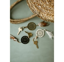 ROUND STRAW BAG WITH HANDLES