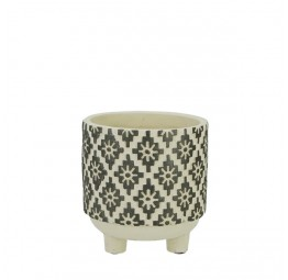 POT CERAMIC ROUND WITH FOOT SMALL