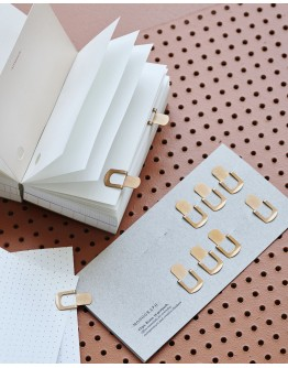 CLIPS ORGANIZE BRASS PACK OF 12