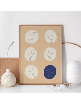 ABSTRACT FACES DISCUSSION ART PRINT | STUDIO PARADISSI