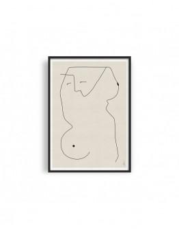 ABSTRACT NUDE WOMAN 01 GICLEE ART PRINT | STUDIO PARADISSI