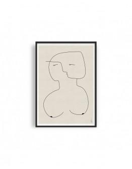 ABSTRACT NUDE WOMAN 02 GICLEE ART PRINT | STUDIO PARADISSI