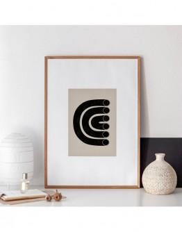 ABSTRACT TUBE 15 LINE DRAWING GICLEE ART PRINT | STUDIO PARADISSI